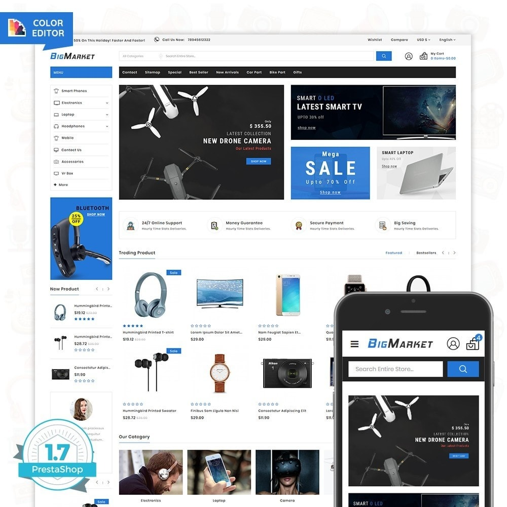 theme - Eletrônicos & High Tech - Big Market - The Mega Ecommerce Store - 1