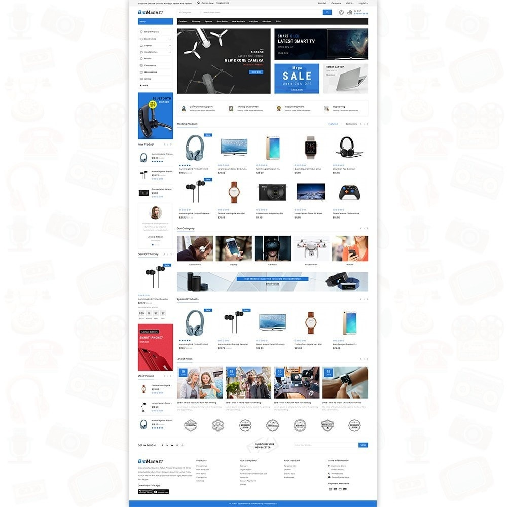 theme - Eletrônicos & High Tech - Big Market - The Mega Ecommerce Store - 2