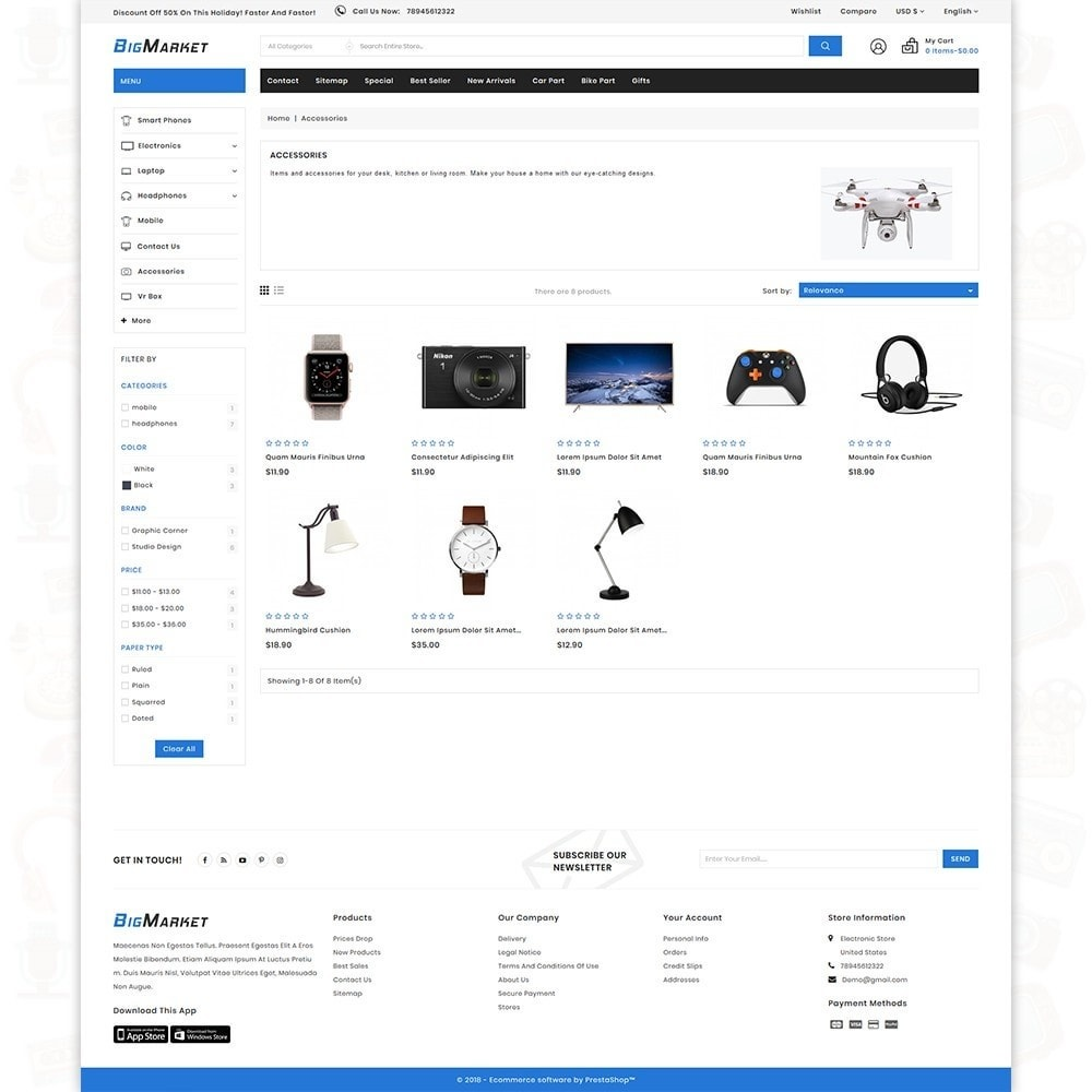 Big Market - The Mega Ecommerce Store
