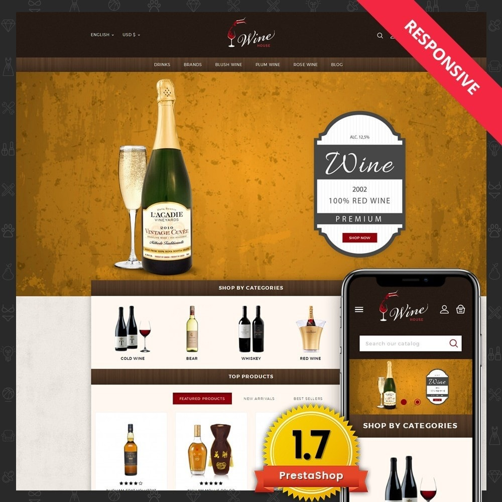 theme - Boissons & Tabac - Wine House Online Store - 1