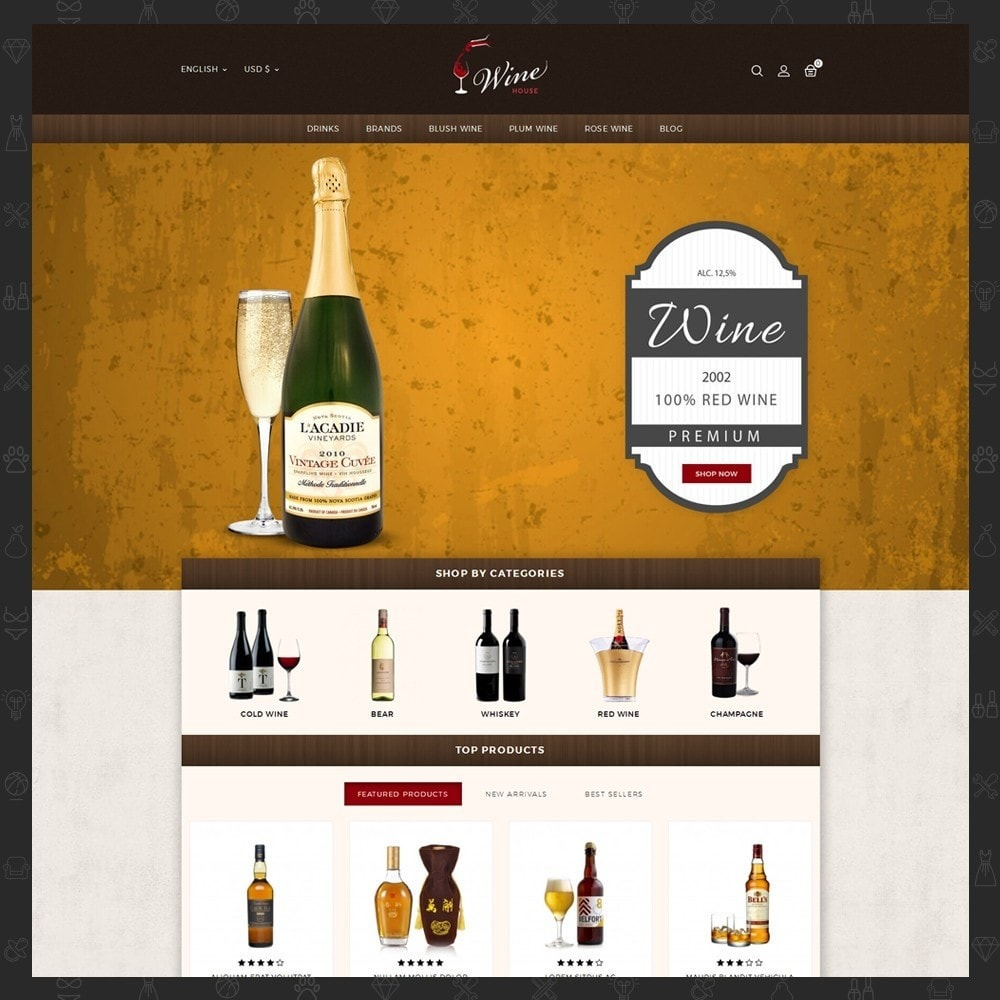 theme - Boissons & Tabac - Wine House Online Store - 2
