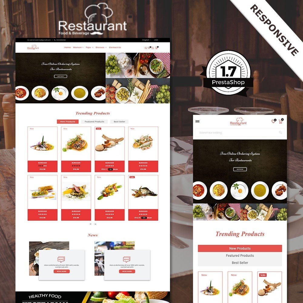 theme - Lebensmittel & Restaurants - Restaurantladen - 1