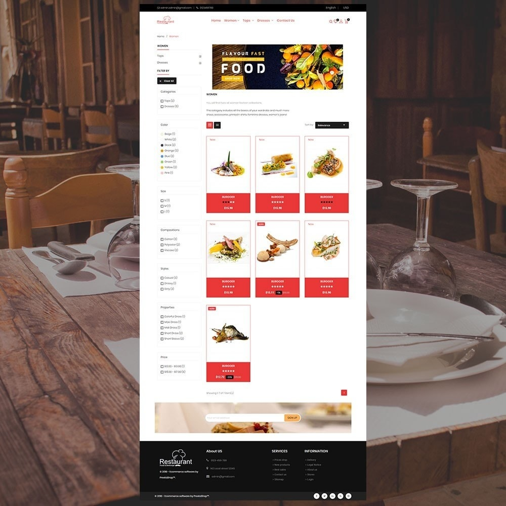theme - Food & Restaurant - Restaurant Store - 3
