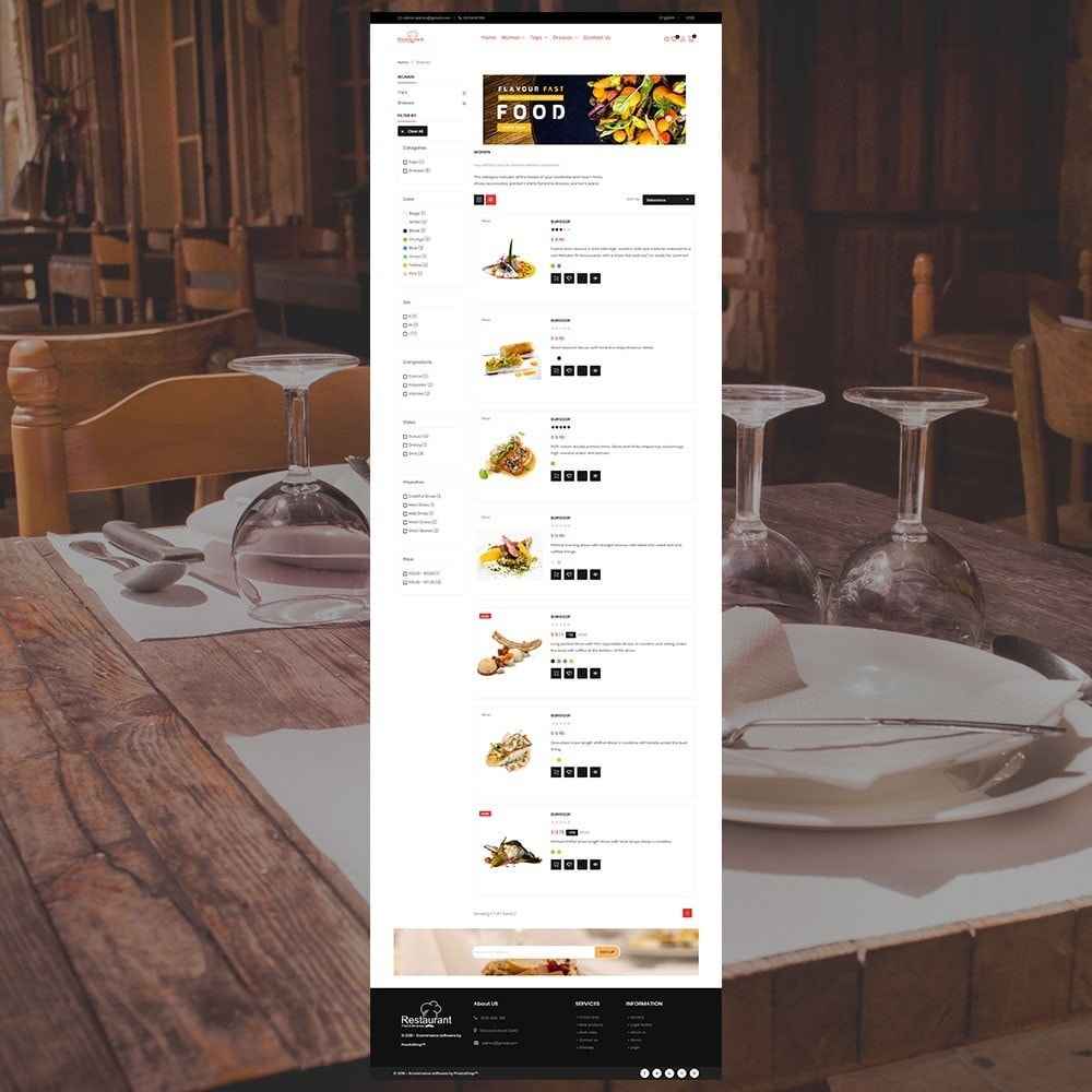 theme - Alimentation & Restauration - Magasin de restaurant - 5