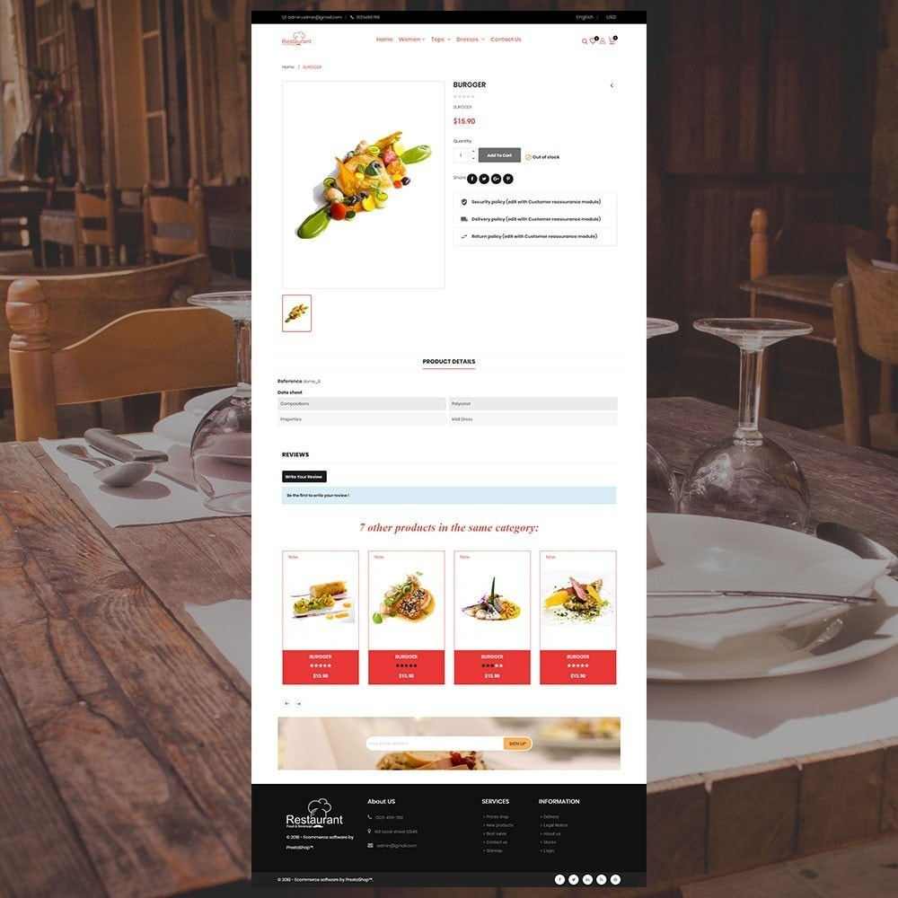 theme - Lebensmittel & Restaurants - Restaurantladen - 6