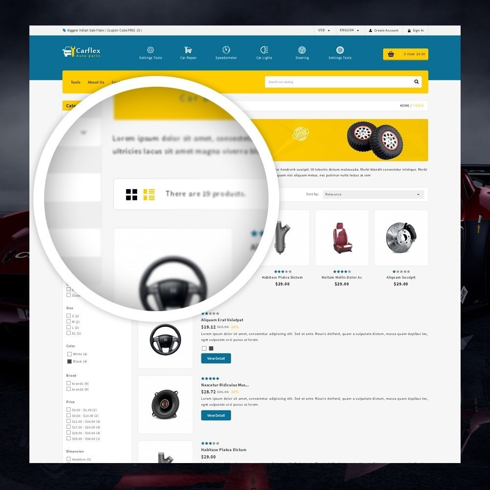 theme - Auto & Moto - CarFlex - The AutoParts Store - 3