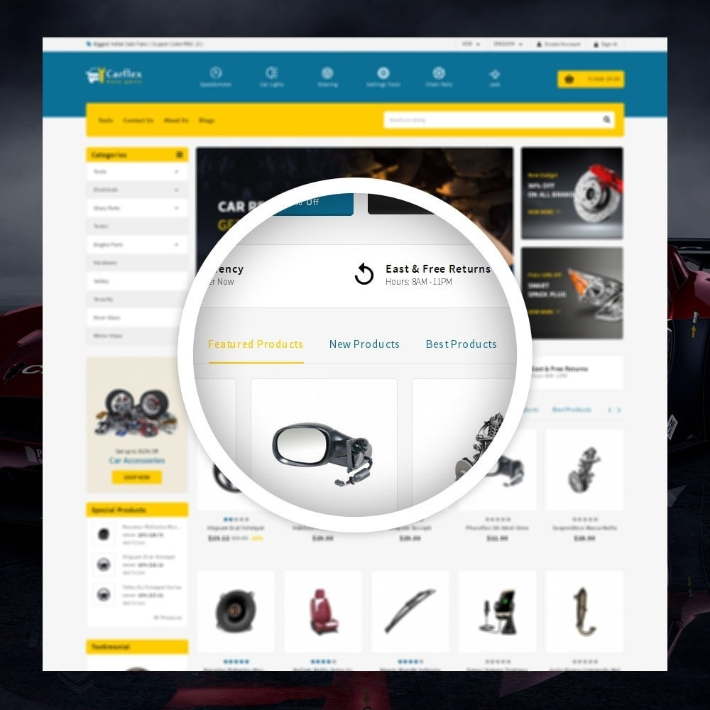 theme - Авто и Мото - CarFlex - The AutoParts Store - 9