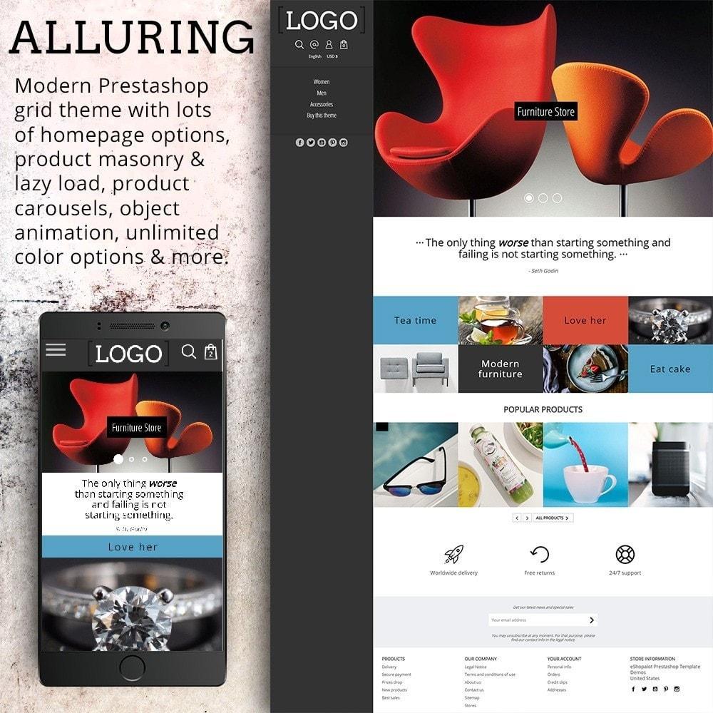 Alluring - Parallax Masonry Modern