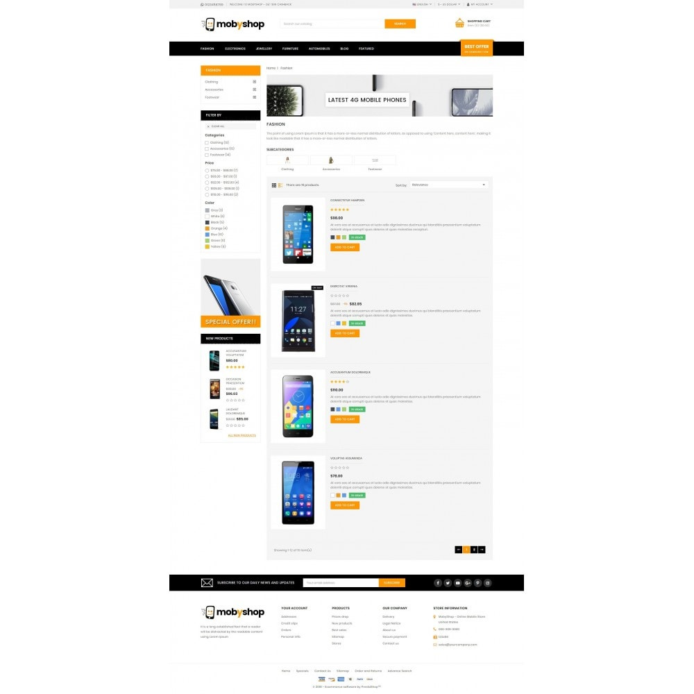 theme - Electronics & Computers - Mobyshop - Online Mobile Store - 4