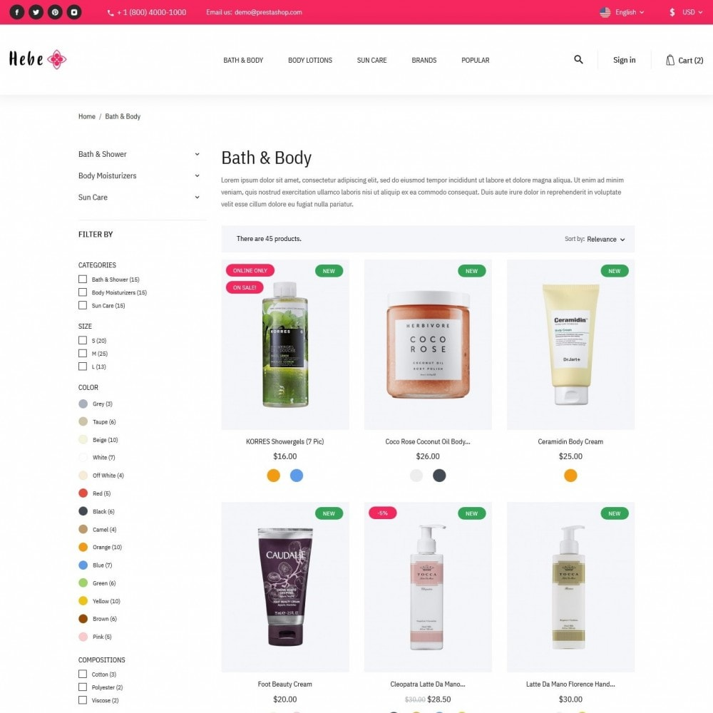 theme - Health & Beauty - Hebe Cosmetics - 5