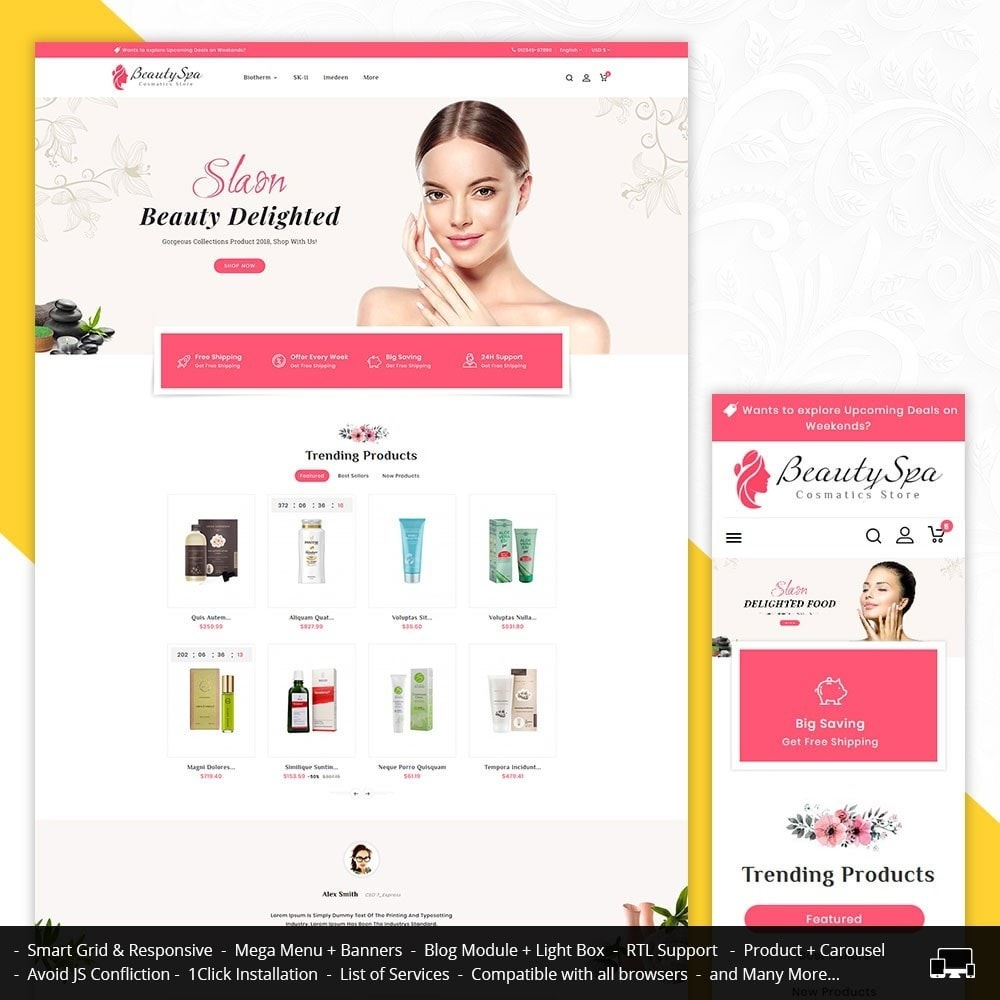 theme - Health & Beauty - Beauty Cosmetics & Spa - 1