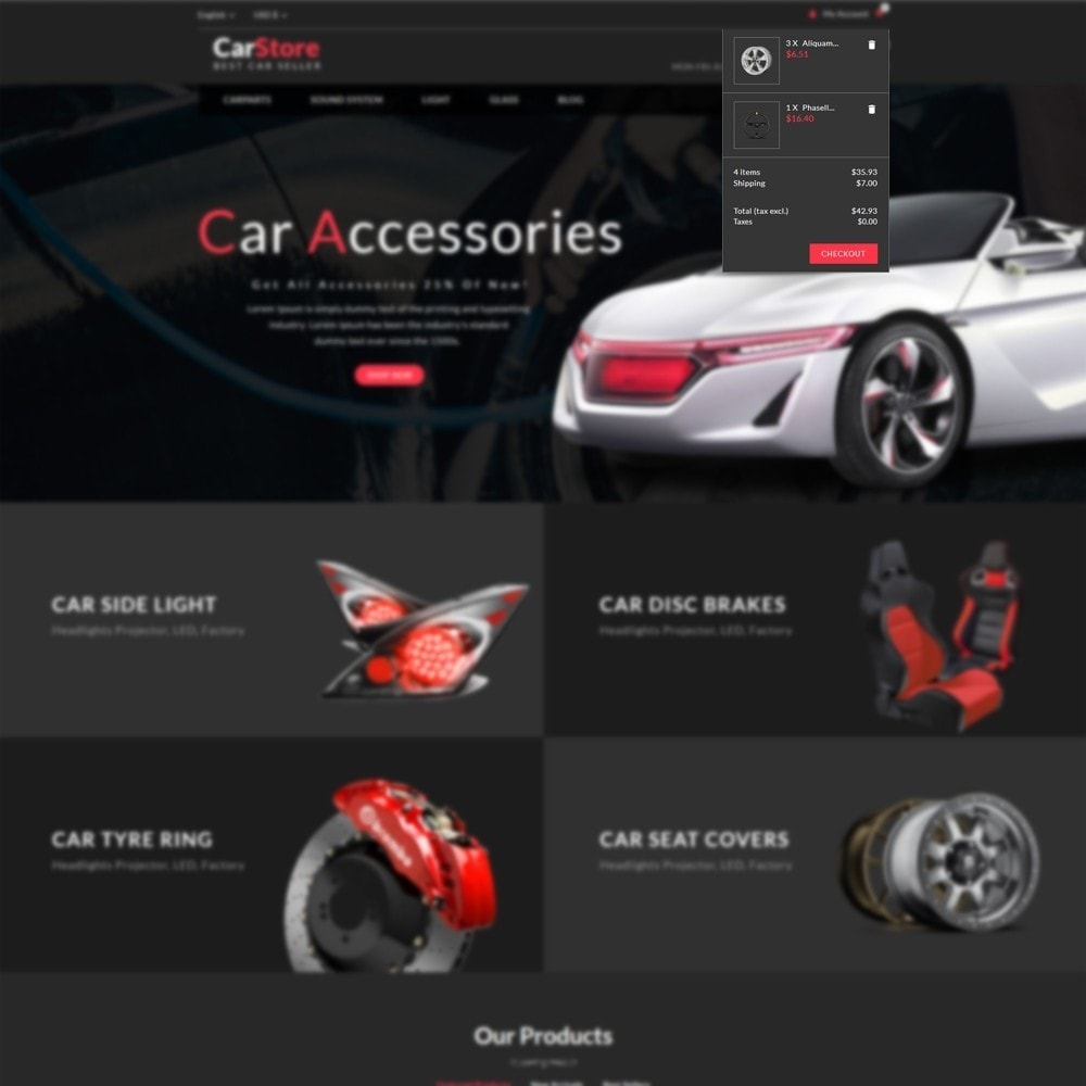 theme - Carros & Motos - Car Store - Car Accessories - 6