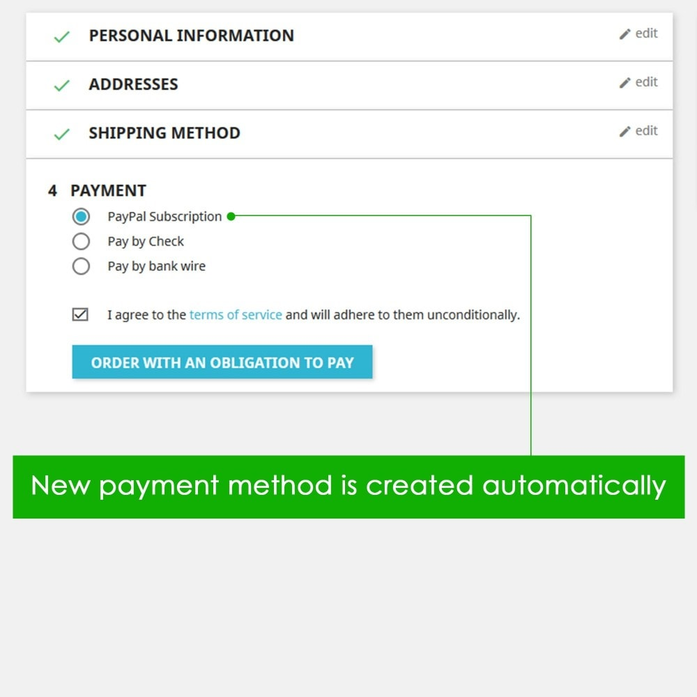 module - Pago recurrente (abono) - PayPal Recurring Payments / Subscription - 3