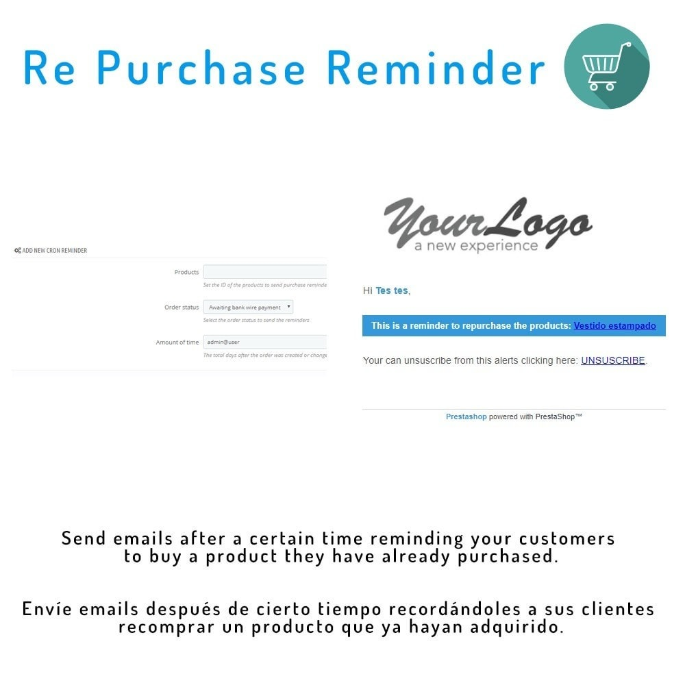module - Remarketing & Carrelli abbandonati - Re-purchase reminder - 1