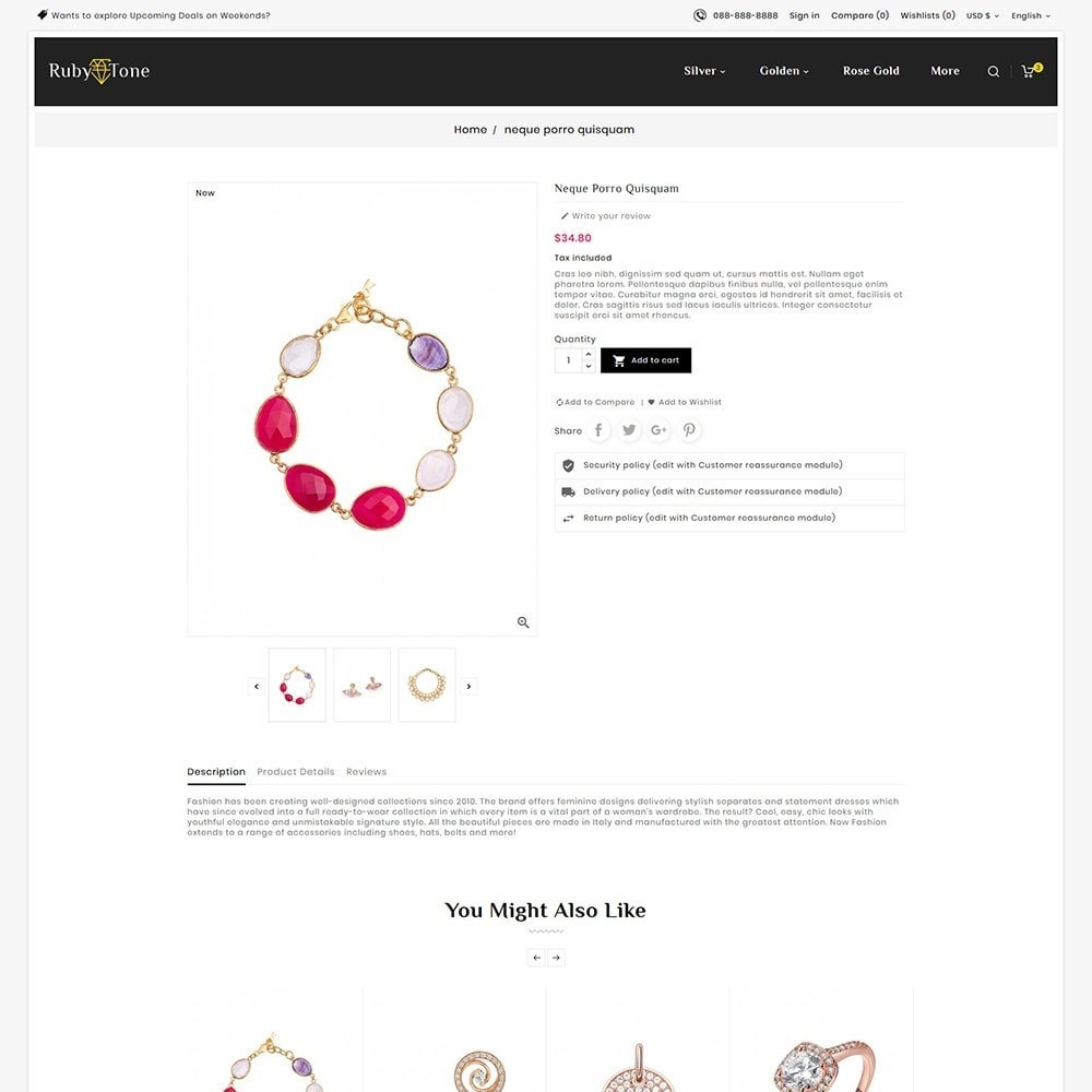 theme - Schmuck & Accesoires - Ruby Jewelry - 5