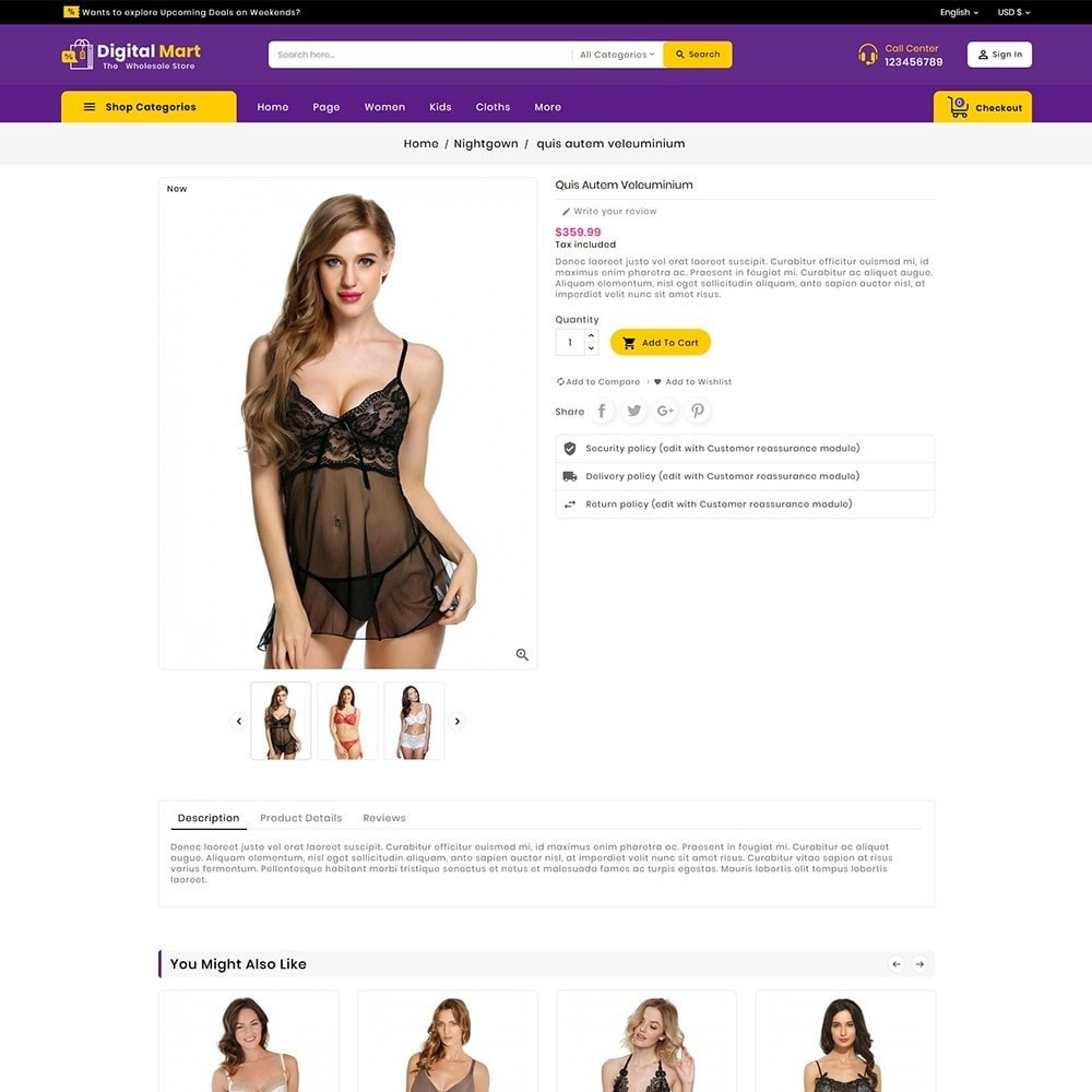 theme - Lingerie & Adulte - Digital Mart Lingerie Shop - 7
