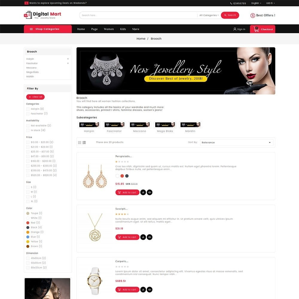theme - Joyas y Accesorios - Digital Mart Jewelry Imitation - 4