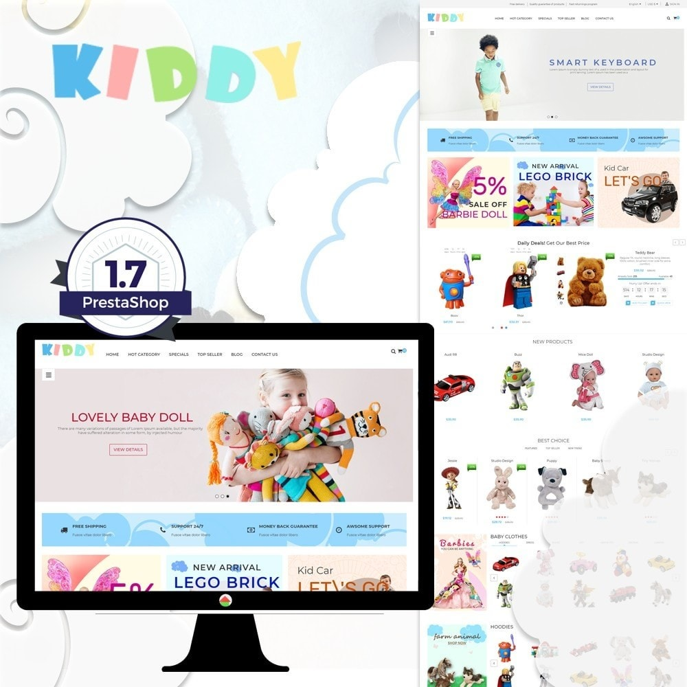 theme - Дети и Игрушки - Kiddy & Children Store - 1