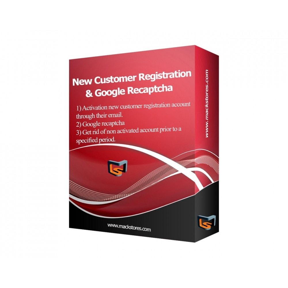 module - Registratie en Proces van bestellingen - Customer Email Verification & Google Recaptcha AntiSpam - 2