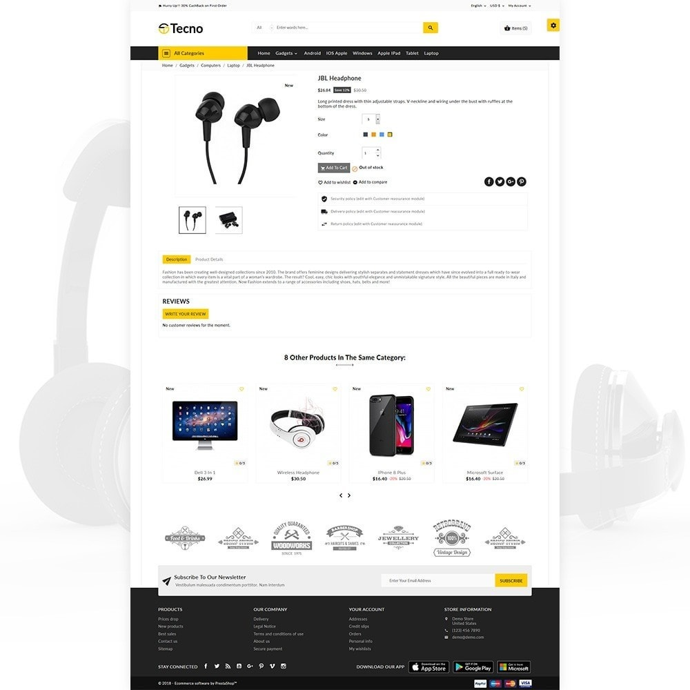 theme - Eletrônicos & High Tech - Tecno – The Electronic Multi Purpose Store - 4