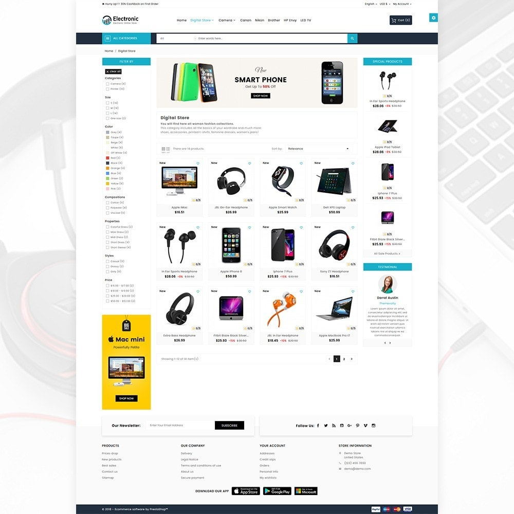theme - Elektronika & High Tech - Electronic – The Electronic Mega Shop - 4