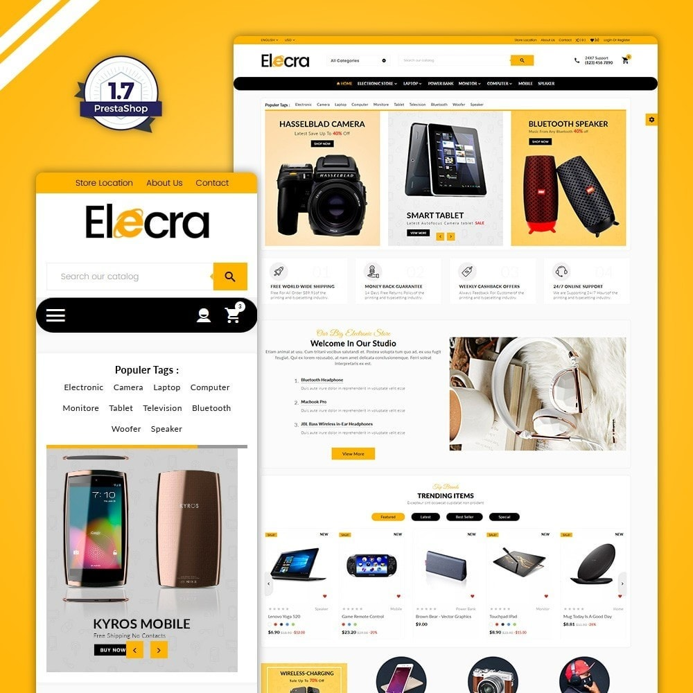 theme - Electronique & High Tech - Elecra–Electronics Mega Shop - 1