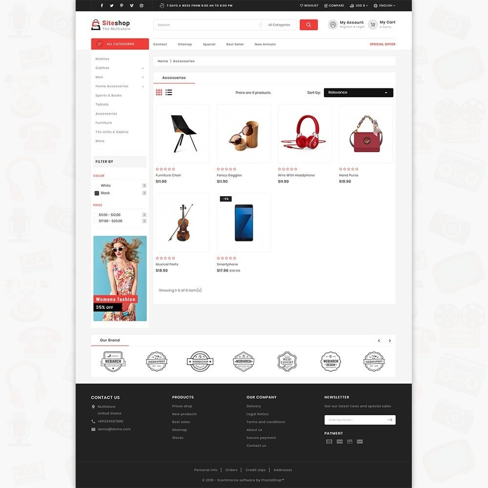 theme - Electronique & High Tech - SiteShop - Online Shopping Trade - 3