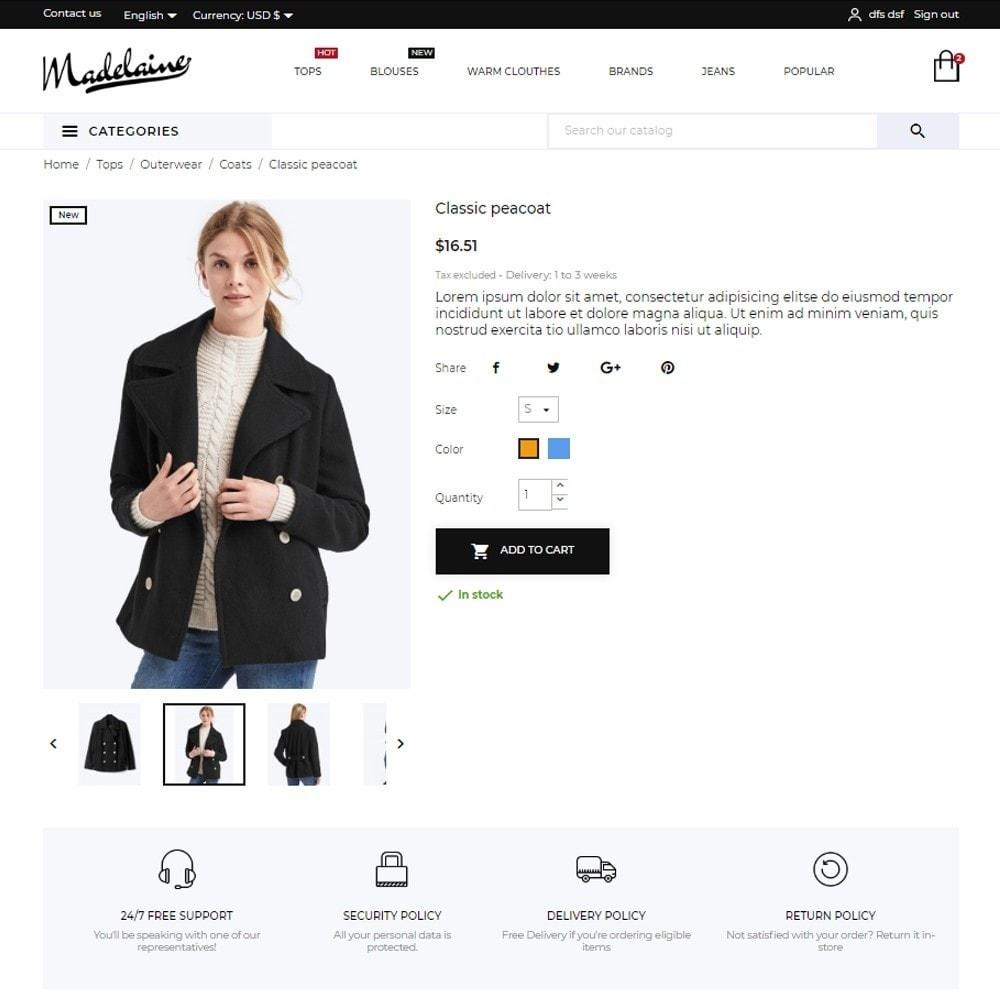 theme - Moda & Calçados - Madelaine Fashion Store - 6