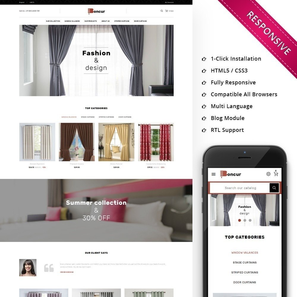 theme - Maison & Jardin - Boncur - The Curtain Shop - 1