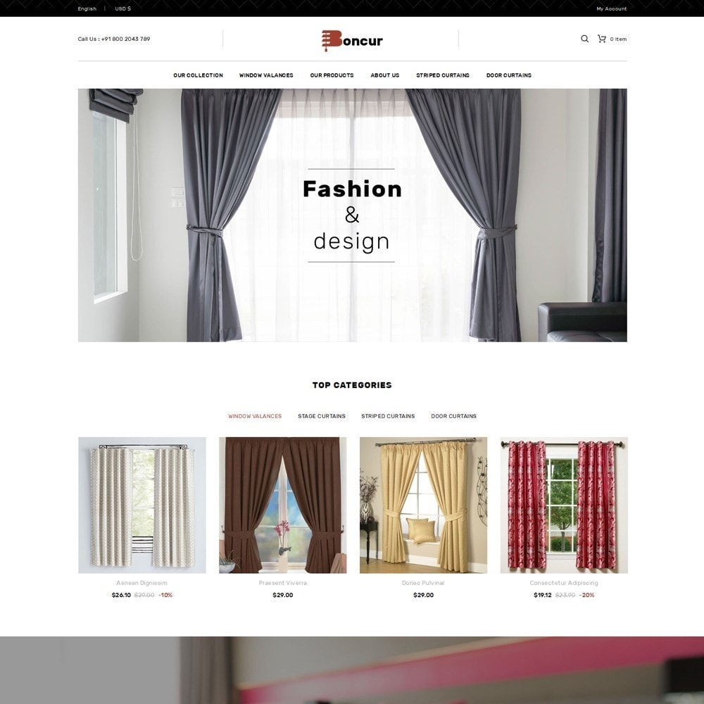 theme - Maison & Jardin - Boncur - The Curtain Shop - 2