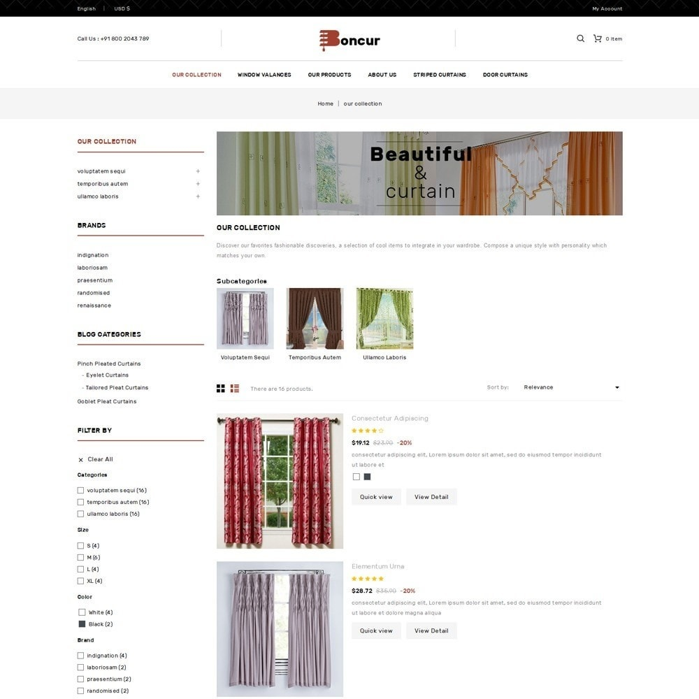 theme - Maison & Jardin - Boncur - The Curtain Shop - 5
