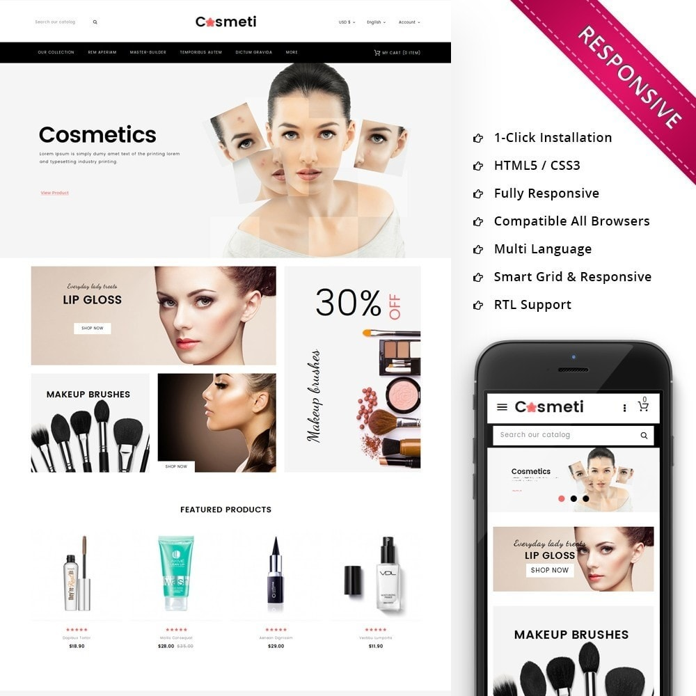 theme - Mode & Chaussures - Cosmeti - The Beauty Shop - 1