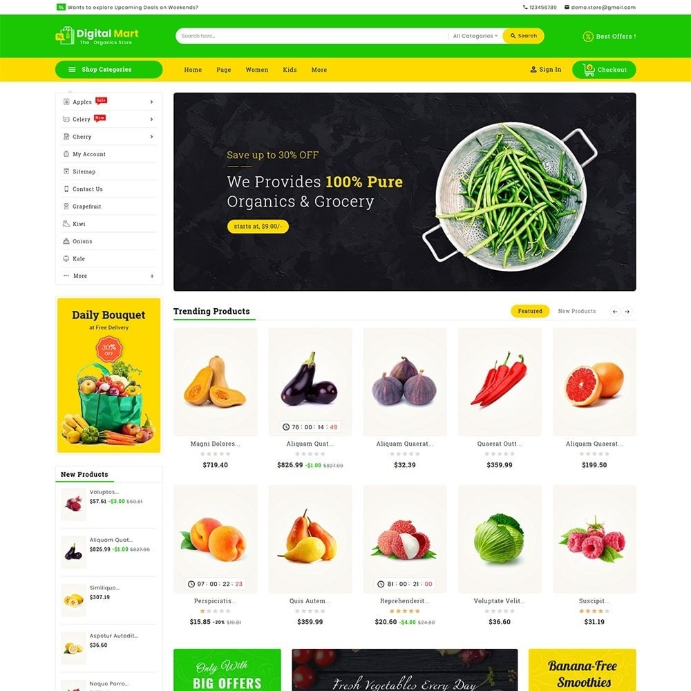 theme - Alimentos & Restaurantes - Digital Mart Grocery Food - 2