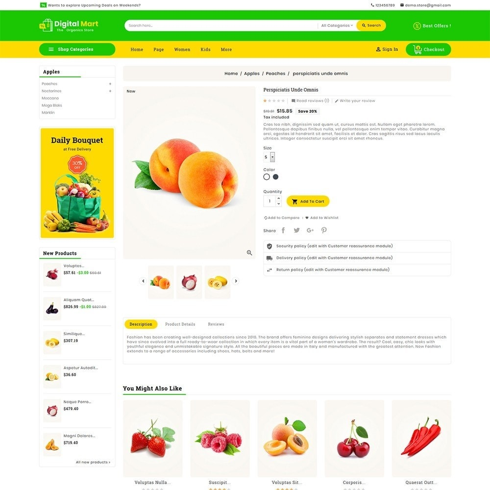 theme - Food & Restaurant - Digital Mart Grocery Food - 6