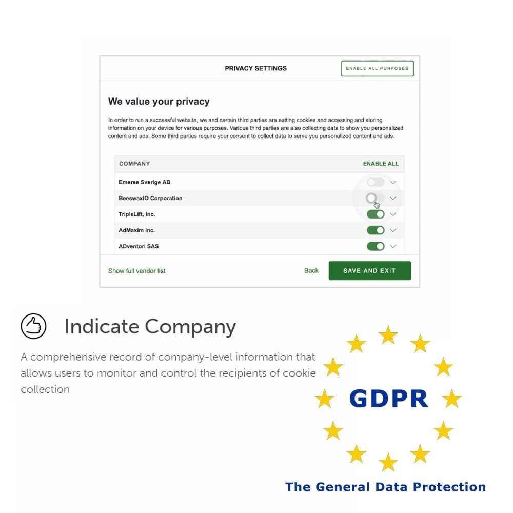 module - Администрация - General Data Protection Regulation (GDPR) Compliance - 4