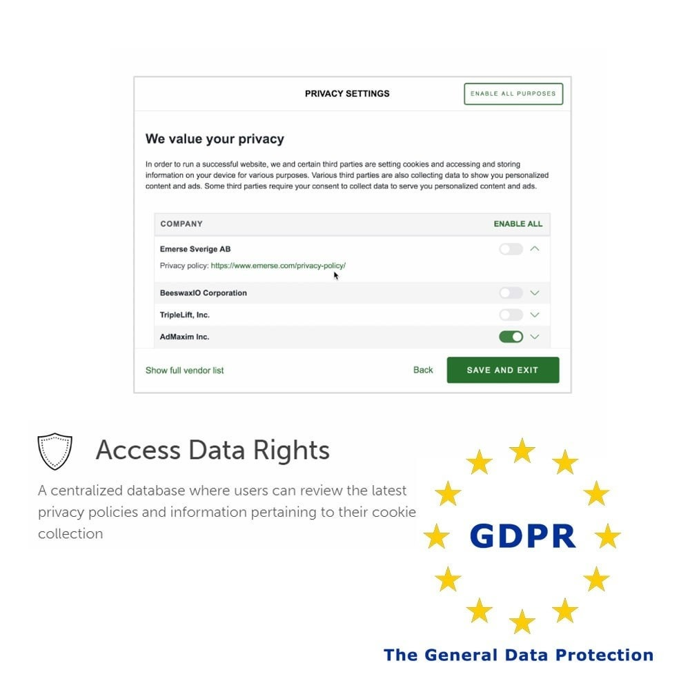 module - Администрация - General Data Protection Regulation (GDPR) Compliance - 5