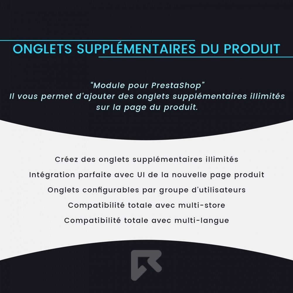 module - Information supplémentaire & Onglet produit - Onglets Supplémentaires du Produit - 2