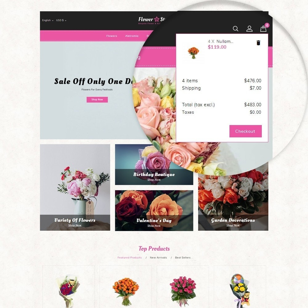 theme - Presentes, Flores & Comemorações - Flowerstar Store - 7