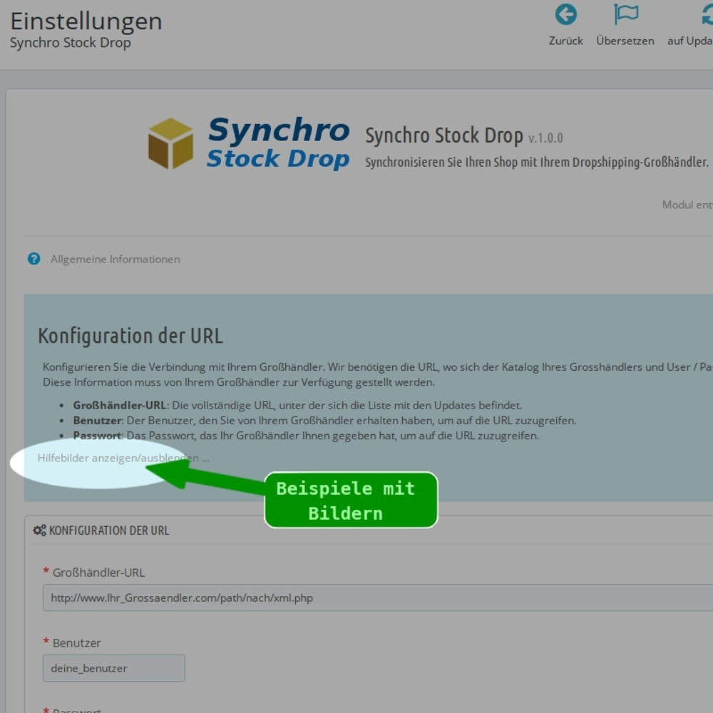 module - Bestands & Lieferantenmanagement - Synchro Stock Drop - 2