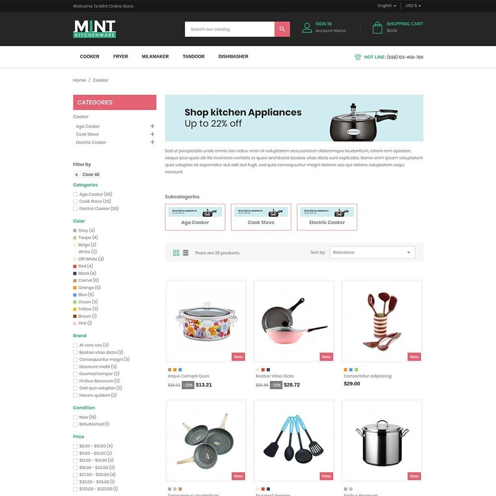 Mint - Kitchen Online Store
