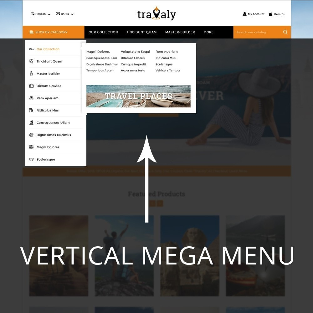 theme - Sport, Loisirs & Voyage - Travaly  -The Tourism Store - 10