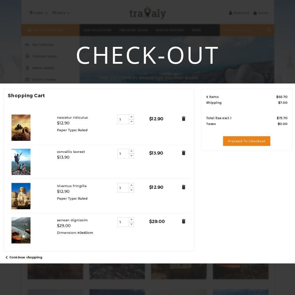 theme - Sport, Loisirs & Voyage - Travaly  -The Tourism Store - 12