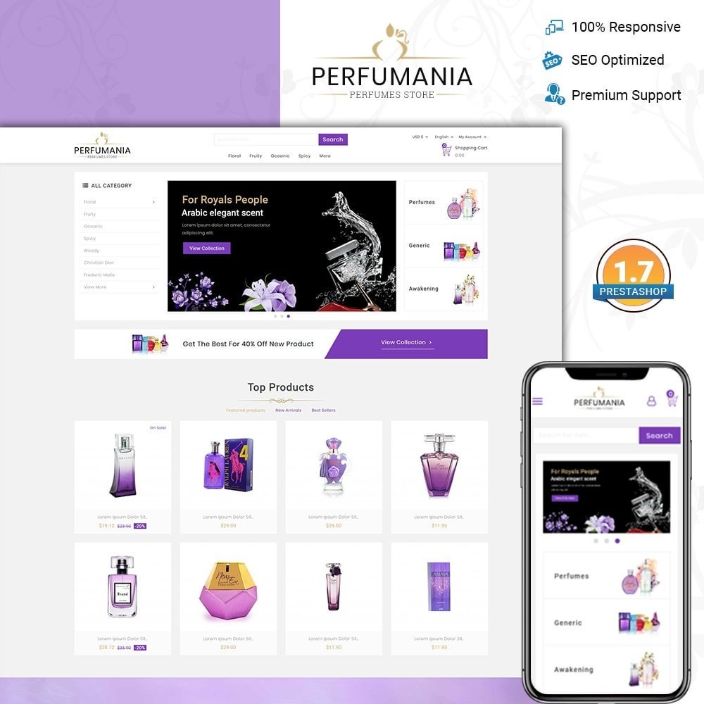 theme - Fashion & Shoes - Perfumania - Perfume Store - 1