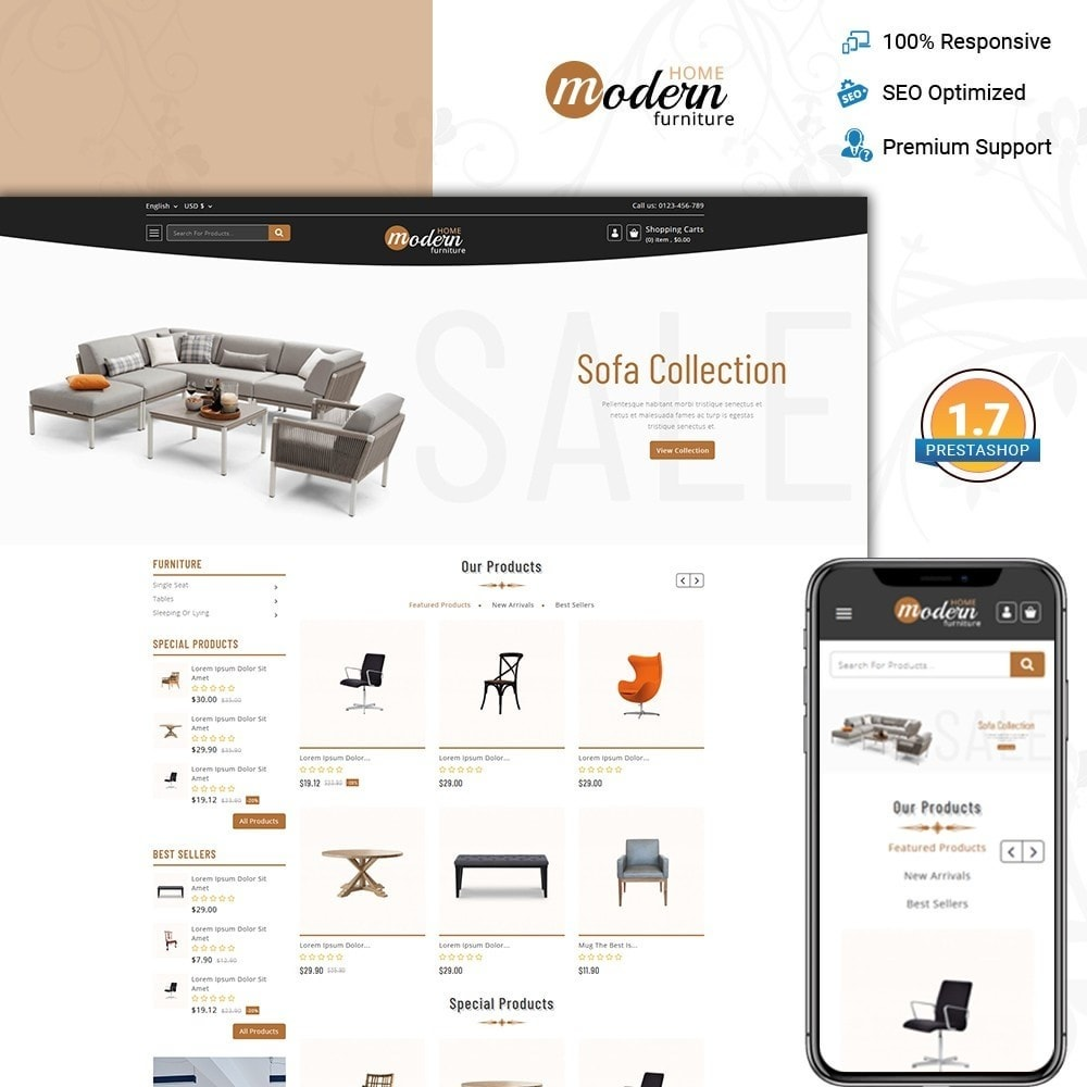 theme - Home & Garden - Modern - Furniture Store - 1