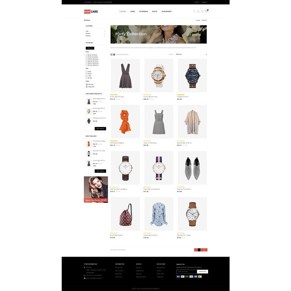 theme - Mode & Chaussures - Fashcare Fashion Store - 3