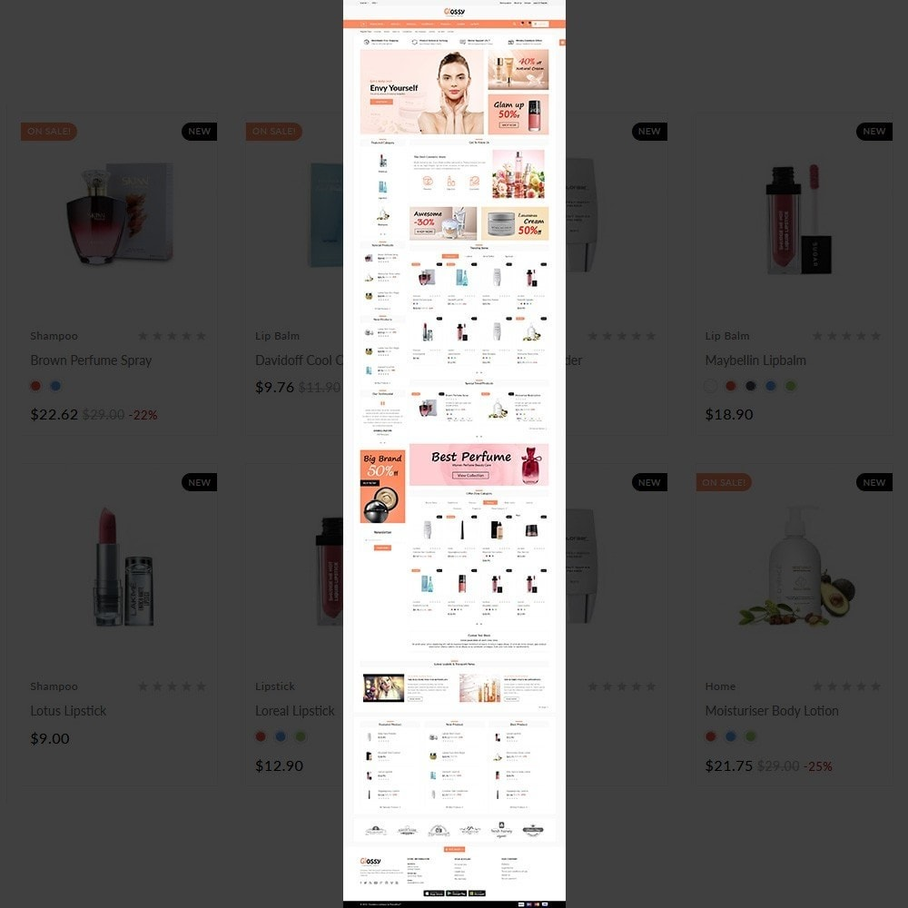 theme - Health & Beauty - Glossy –Cosmetic Mega Shop - 2