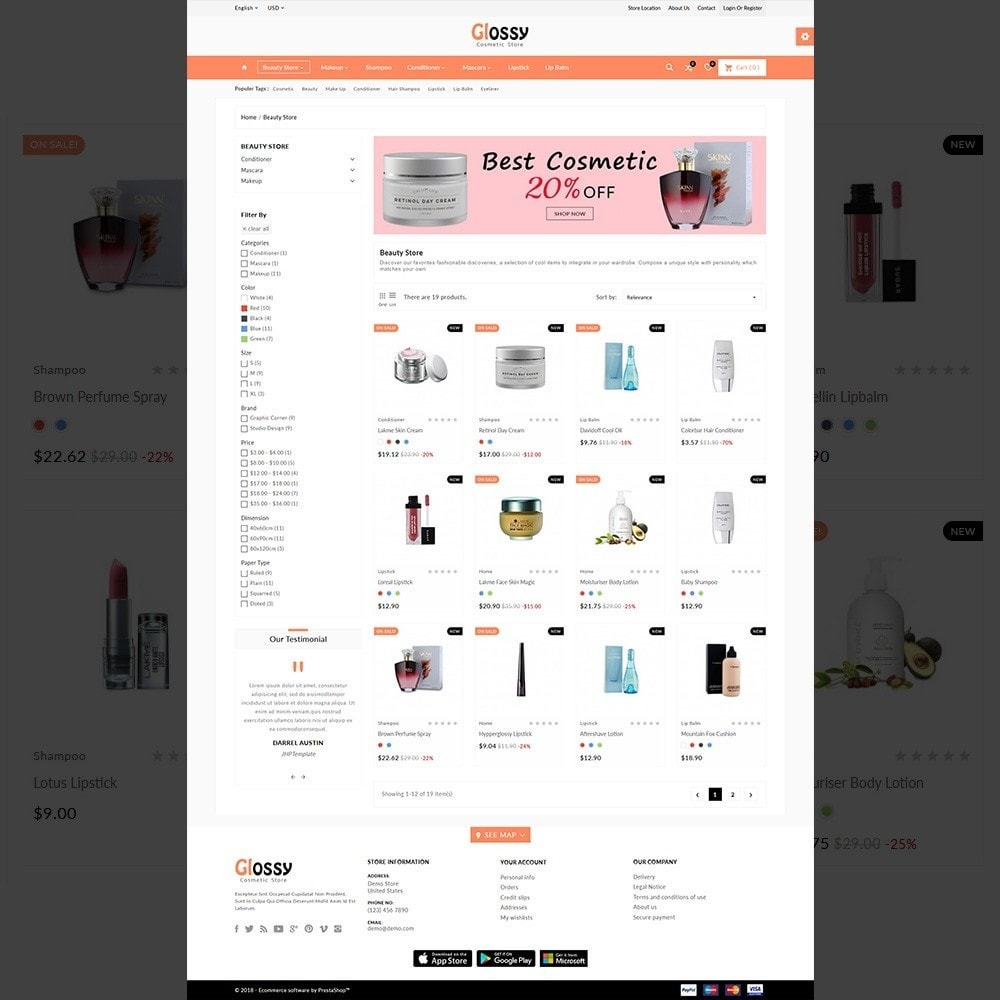 theme - Health & Beauty - Glossy –Cosmetic Mega Shop - 3