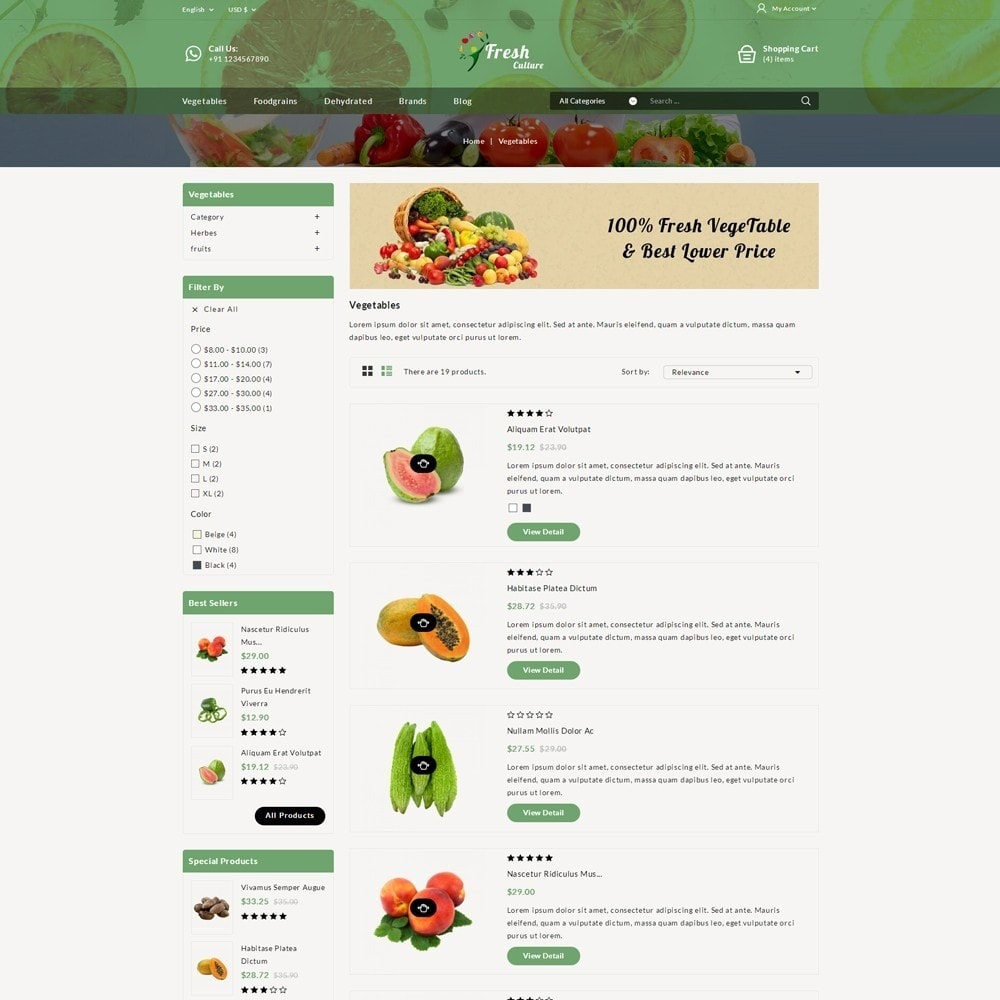 theme - Food & Restaurant - Fresh Culture Organic Store - 4