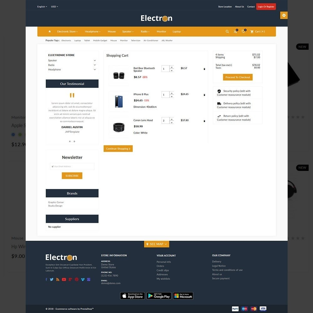 theme - Electronics & Computers - Electron–Electronic Mega Mall - 4