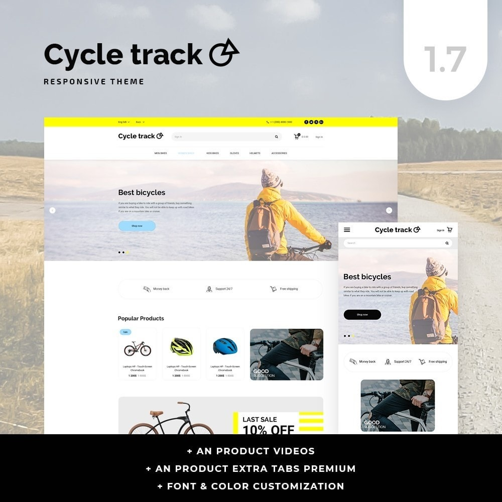 theme - Sport, Loisirs & Voyage - Сycle track - 1